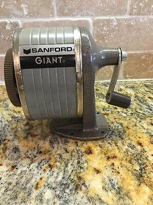 Vintage Sanford Giant Pencil Sharpener Desk Or Wall Mount 6 Sizes Holes