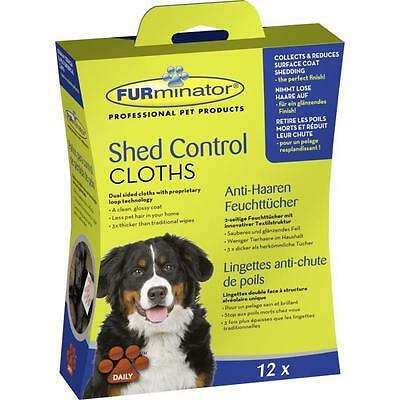 FURminator Dog Shed Control Cloths 12 pcs
