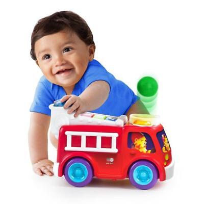 BRIGHT STARTS Having a Ball Roll & Pop Fire Truck and School Bus