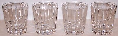 """Lovely Set Of 4 Mikasa Crystal Uptown 4"""" Double Old Fashioned Glasses          2"""