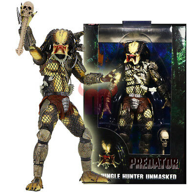 "NECA Predator Jungle Hunter Unmasked 7"" Action Figure 1:12 30th Anniversary Doll"