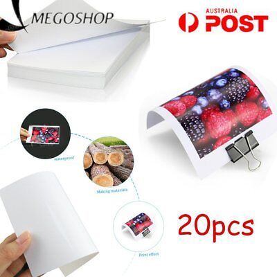 TIANSE Glossy Photo Paper Color Inkjet Printing Photo Paper Waterproof 20pcs AU