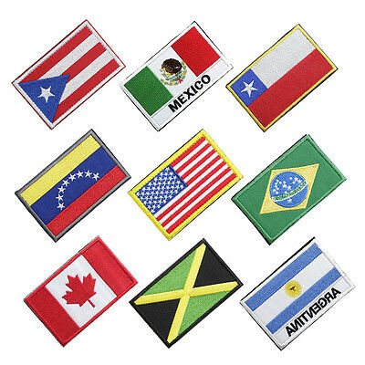 Embroidery American Countries Flag Armband Sticker Arm Patch Badge f. Hats Jeans