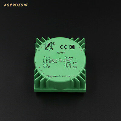 15VA Green Square 15W Sealed toroidal transformers M15-03 AC dual 12V(2*12V)