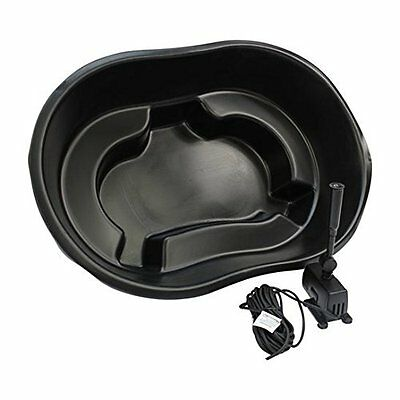 Ladybower Black Plastic Heavy Duty Garden Pond Kit with 600 LPH Pump