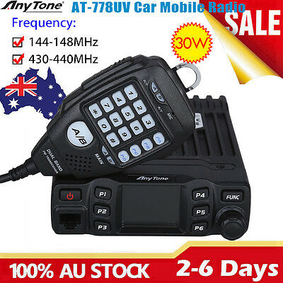 AnyTone AT778UV Dual Band Transceiver Mobile Radio VHF/UHF 2-Way Amateur Radio