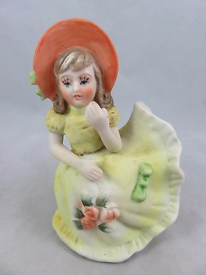 Vtg Southern Belle Bloomer Girl - Bell Figurine - Ceramic