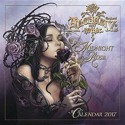 Stunning Official Alchemy Gothic - The Midnight Rose 2017 Square Calendar