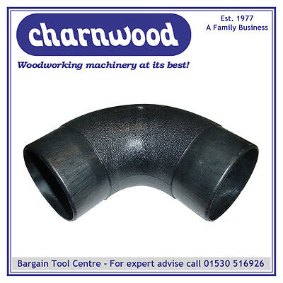 CHARNWOOD 100E Dust Extraction 90 Degree Elbow, 100mm Diameter