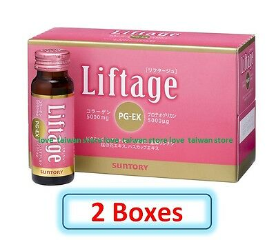 2 Boxes (DHL Ship)-New Suntory Liftage PG-EX Collagen x Proteoglycan Supplements