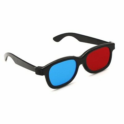 5 Pcs Red Blue 3D Glasses For Dimensional Anaglyph Movie Game DVD Stylish