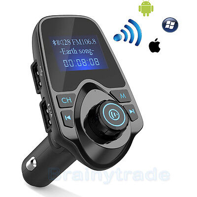 Bluetooth Car FM Transmitter Wireless Radio Adapter USB Charger Mp3 Player NEW