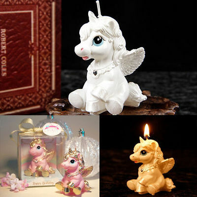 Unicorn Horse Kids Happy Birthday Candle Party Cake Topper Decoration Candles KP