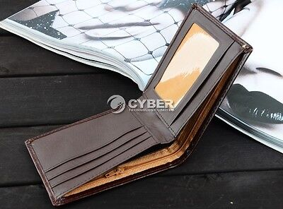 Men Leather Wallet Pocket HS Coin Card Money OU Holder Clutch Bifold Slim Purse#