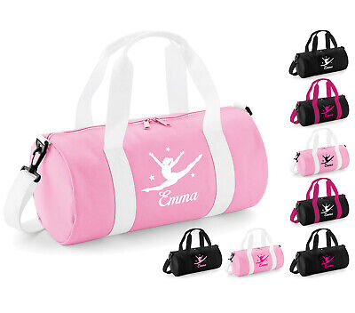 Personalised Womens Girls Kids Dance Bag Pink Ballet Gymnastics Uniform Gym Kit