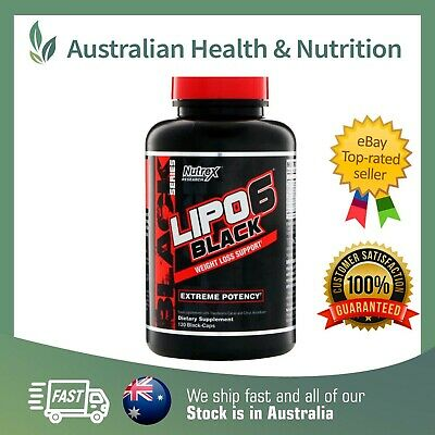 Nutrex Research Lipo 6 Black Extreme Potency High Strength Fat Loss Support