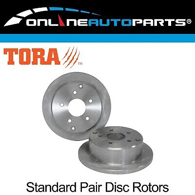 Set 2 Rear Disc Brake Rotors V6 V8 Commodore VT VX VU VY VZ Holden Sedan Wagon