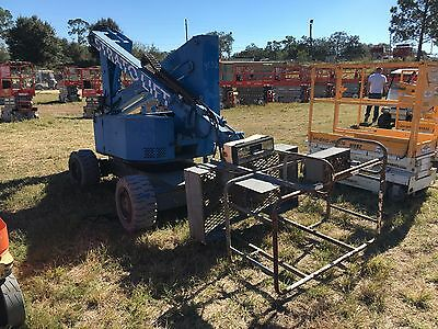 Strato Lift Boom Lift , 35' Deck Hgt./41' Work Hgt Electric Powered 4' Basket