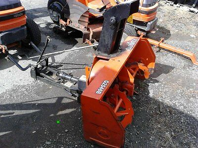 "Used Kubota G2546 46"" PTO powered snow blower with sub frame and PTO kit."