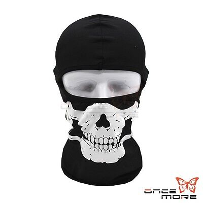 Motorcycle Cycling Ski Outdoor Lycra Ghost Skull CS Balaclava Full Face Mask Cap