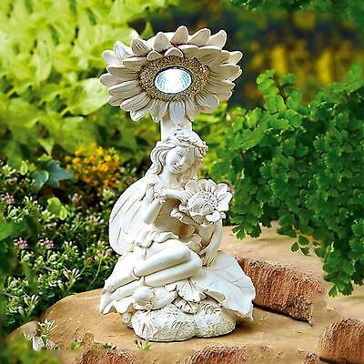 Solar Powered White LED Fairy Light Decorative Garden Lighting Ornament Statue
