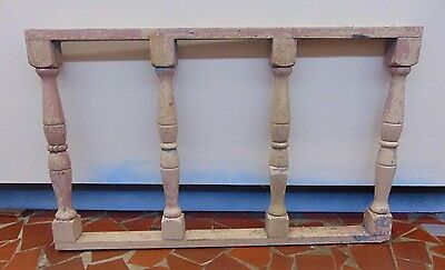 Vintage Shabby Wood Porch Railing Balusters Architectural Salvage