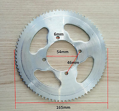 25H 80 Tooth 80T Rear Chain Sprocket Electric Scooter, Razor MX350, MX400 (54MM)