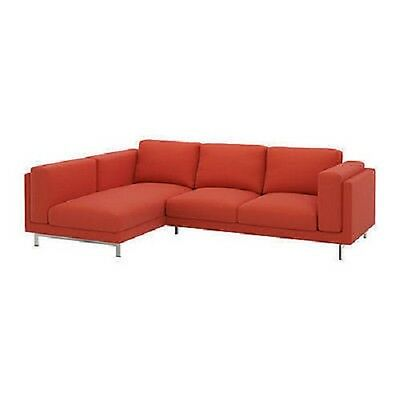 Ikea Nockeby Loveseat With Chaise Left Cover Slipcover Risane Orange New In Box Cad