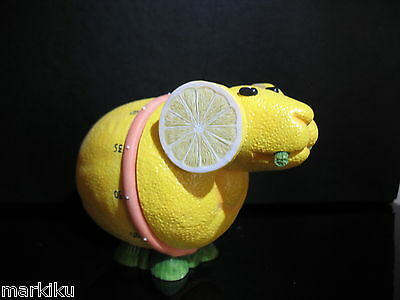 New Lemon Goat  kitchen stove timer figurine Home grown Enesco figurine