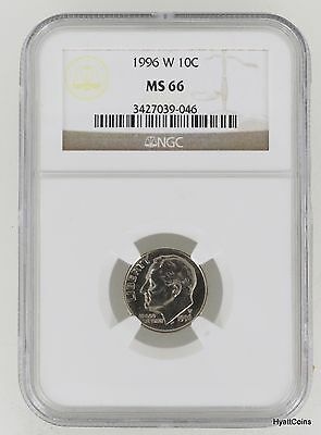 1996-W Roosevelt Dime 10C NGC MS66