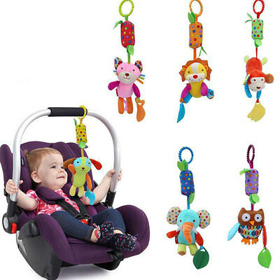 Infant Baby Hanging Bell Animal Cartoon Bed Stroller Plush Dolls Musical Mobile