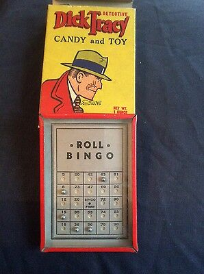 RARE DICK TRACY SUPER COLLECTIBLE CANDY AND TOY IN BOX  1930s