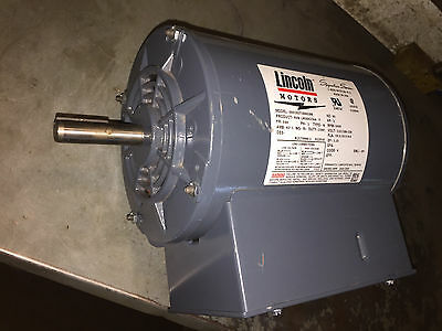2 HP Horse Power 1 PH Single Phase Lincoln Electric Compressor Motor 115/ 230 V