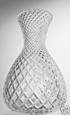 Vintage Glass Or Crystal All Quilted Pattern Flower Vase Beautiful!