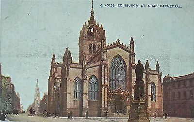 Postcard:saint Giles Cathedral Edinburgh.hand Coloured.about 1905.topographical