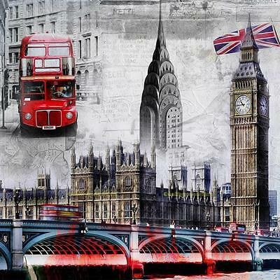 Full Drill City London 5D DIY Diamond Embroidery Cross Stitch Painting Decor New