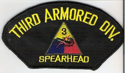 "MILITARY PATCH  U.S.ARMY  "" 3rd ARMORED DIVISION """