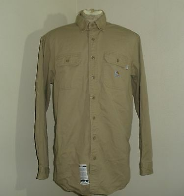 CARHARTT FRS160 FR fire flame resistant long sleeve button down shirt Large TALL