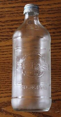 PEPSI COLA Vintage Soda Pop bottle 16 oz  Glass Embossed Letters With Cap