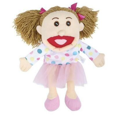 Hand Puppet Large Girl Show Marionette Kids Toy Animal Doll Role Play Plush