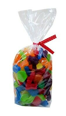 24 x Clear Cello Bags - Baby Shower Birthday Gift Loot Lolly Wedding Nuts Sweets