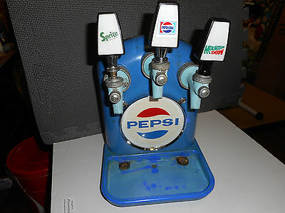 PEPSI COLA 1950'S FOUNTAIN TOMBSTONE DISPENSER FOUNTAIN Soda Sign