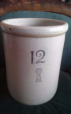 Stoneware Crock 12 Gallon Buckeye Pottery Co. Blue Ribbon