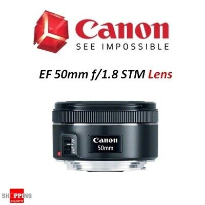 Canon EF 50mm f/1.8 STM Full-Frame Standard Camera Lens * AU Warranty *