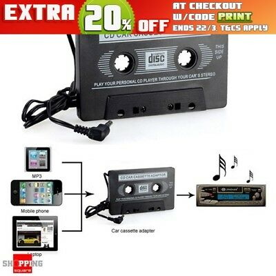 Audio AUX Car Tape Cassette Adapter Converter for iPhone iPod MP3 Samsung