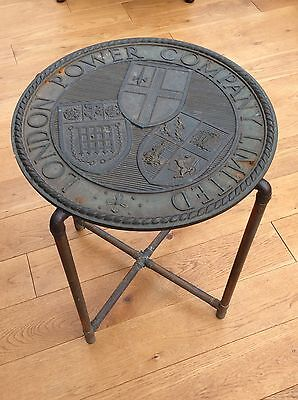 "Unusual ""London Power Company Limited""  Battersea Power Copper Pipe Table"