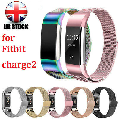 Metal Milanese Stainless Steel Watch Band Strap Bracelet For Fitbit Charge 2 UK