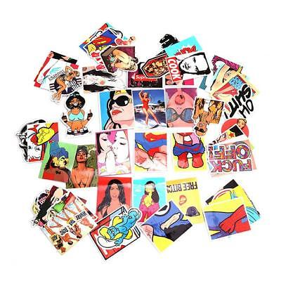 28/50pcs Sticker Bomb Graffiti Vinyl For Car Skate Skateboard Laptop Luggage JJ