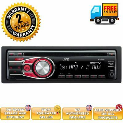 JVC Single Din Car CD Stereo Radio RDS Tuner Player Aux Detachable Face Plate BN