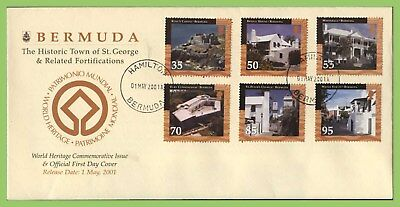 Bermuda 2001 Historic Buildings, St. George' set First Day Cover